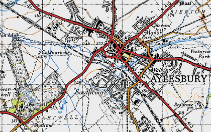 Old map of Aylesbury in 1946