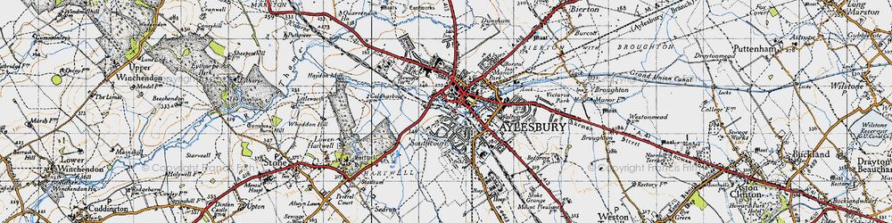 Old map of Aylesbury in 1946