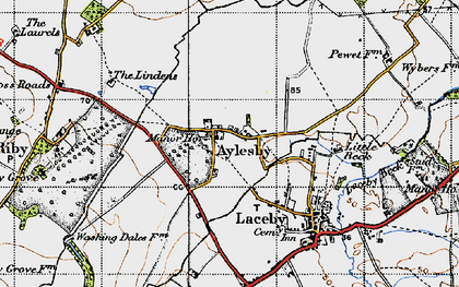 Old map of Aylesby in 1946