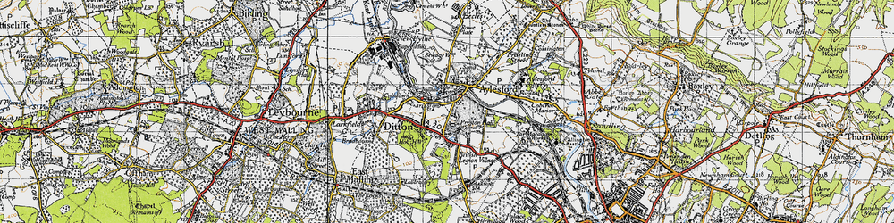 Old map of Aylesford in 1946