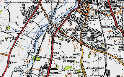 Old map of Aylestone in 1946