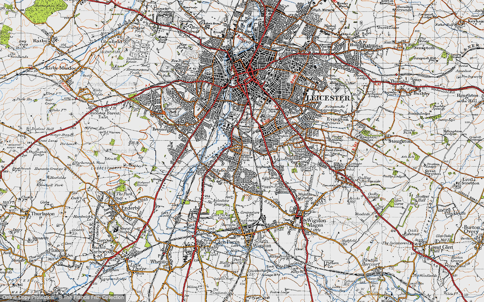 Old Map of Aylestone Park, 1946 in 1946