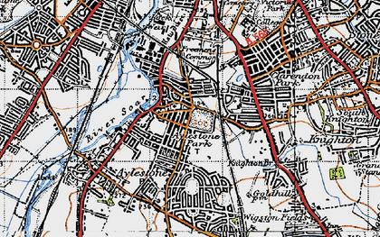 Old map of Aylestone Park in 1946