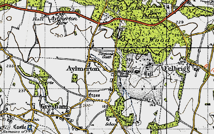 Old map of Aylmerton in 1945