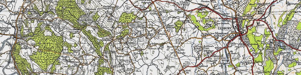 Old map of Aylton in 1947