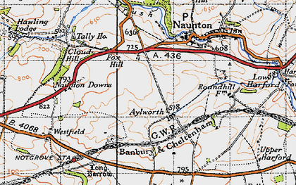 Old map of Aylworth in 1946