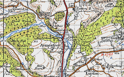 Old map of Aymestrey in 1947