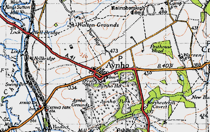 Old map of Aynho in 1946