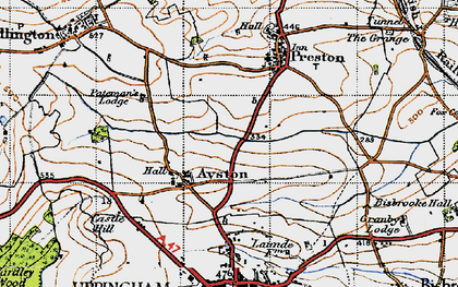 Old map of Ayston in 1946