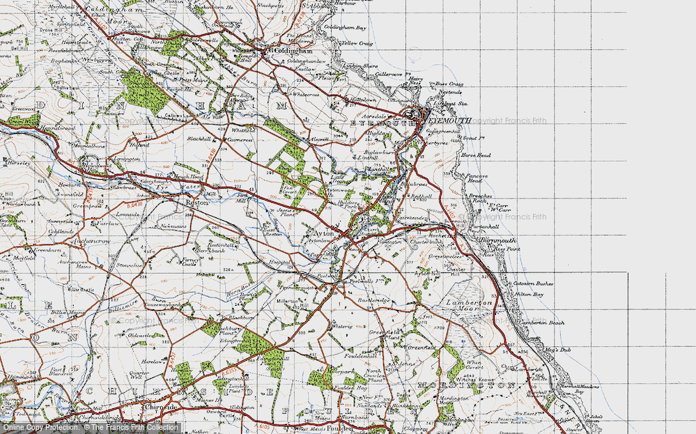 Old Map of Historic Map covering Alemill in 1947