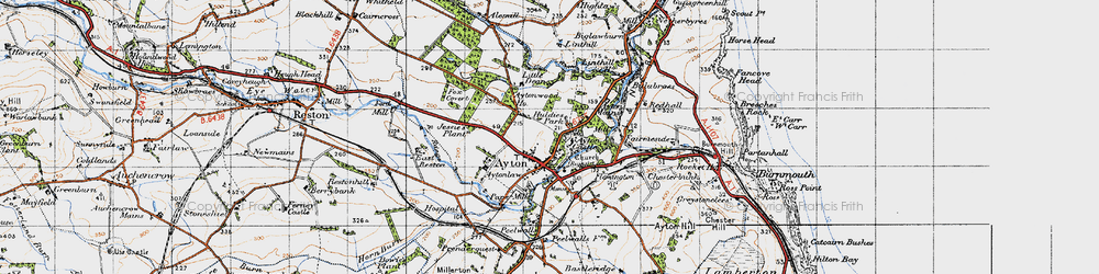 Old map of Alemill in 1947