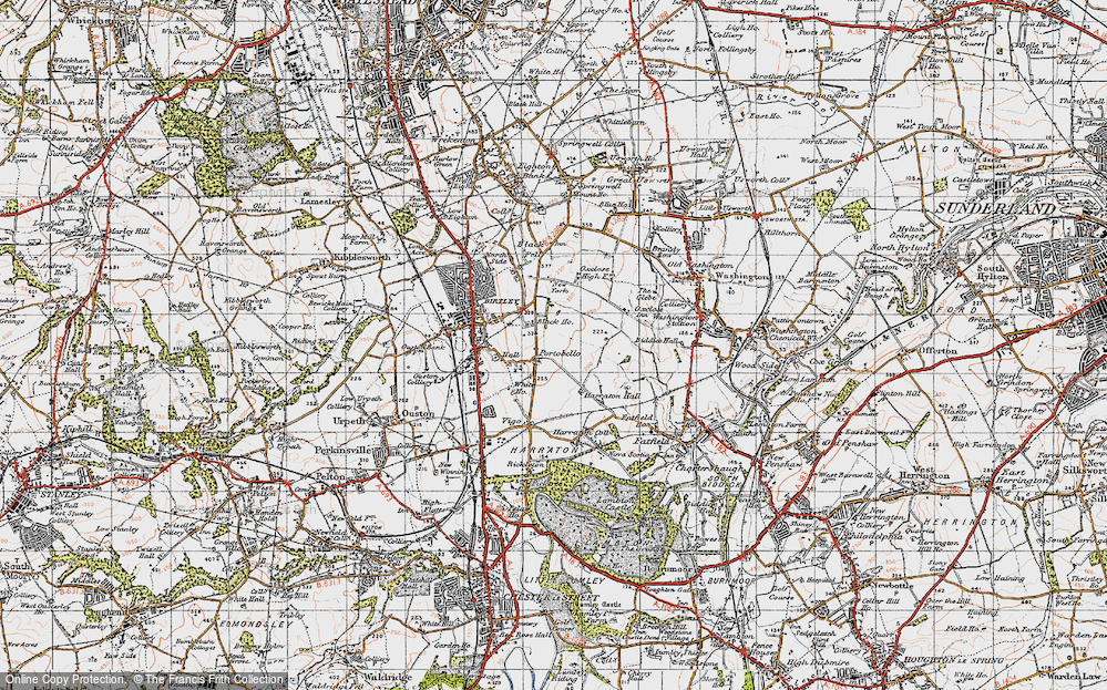 Old Map of Ayton, 1947 in 1947