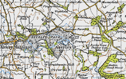 Old map of Azerley in 1947