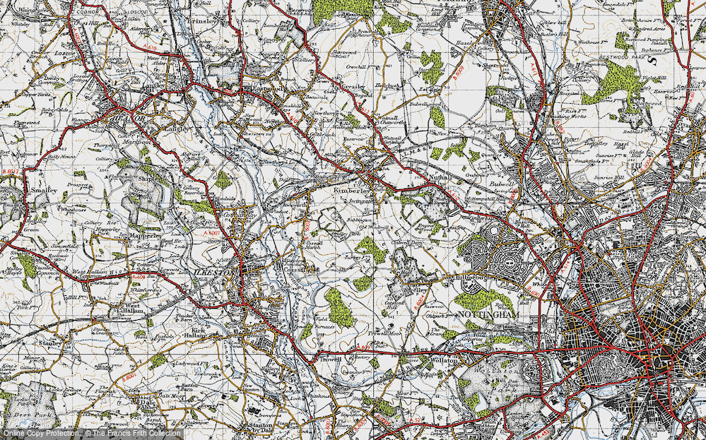 Old Map of Babbington, 1946 in 1946