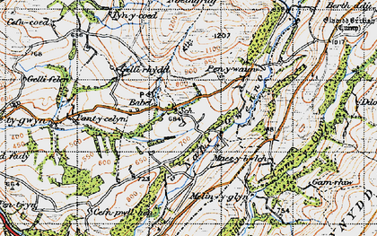 Old map of Babel in 1947
