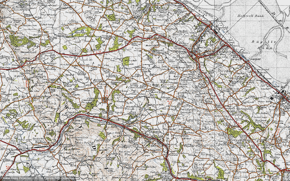 Old Map of Babell, 1947 in 1947