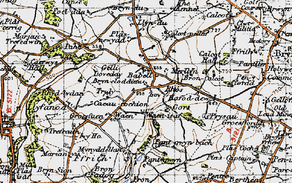 Old map of Babell in 1947