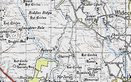 Old map of Babeny in 1946
