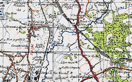 Old map of Tircoed in 1947
