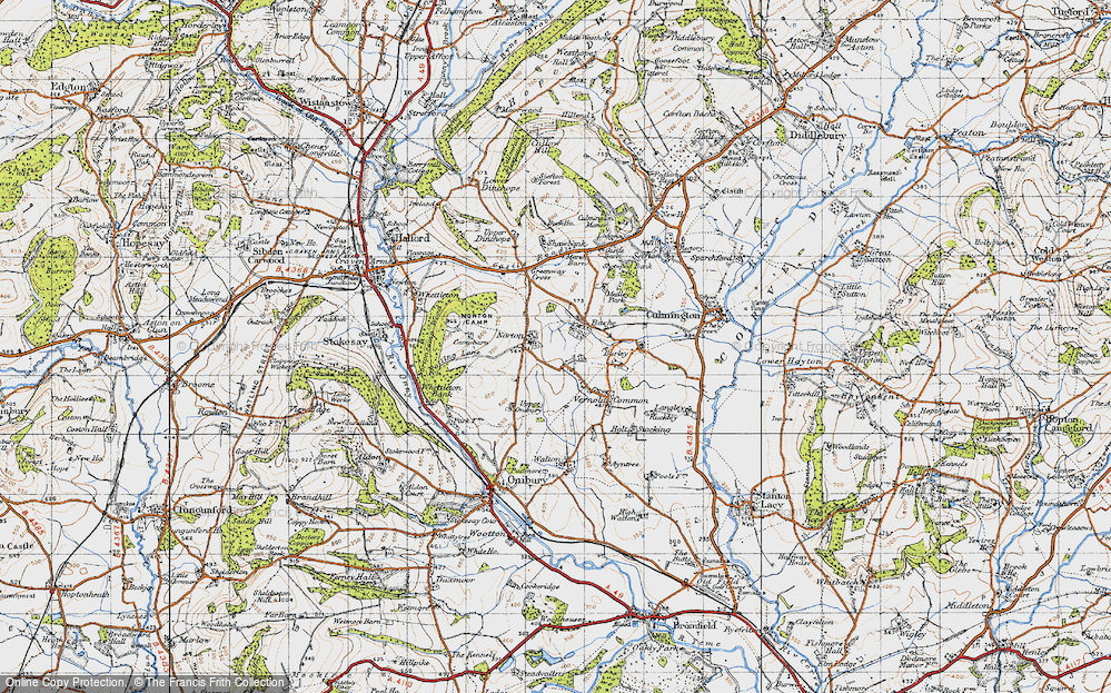 Old Map of Bache, 1947 in 1947