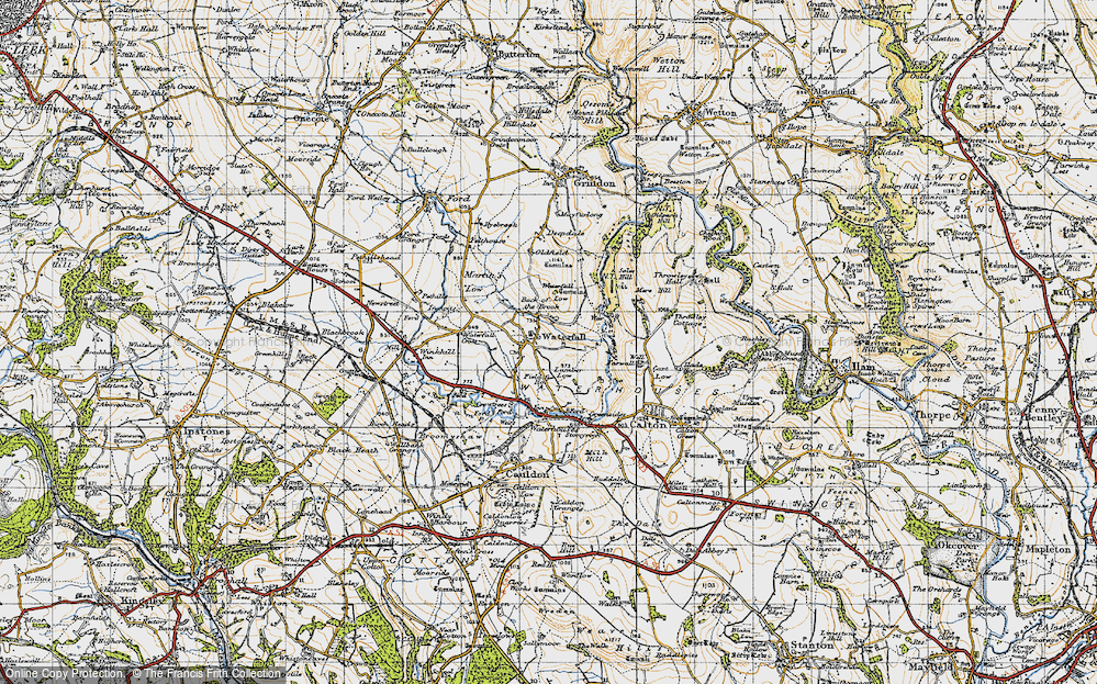 Old Map of Back o'th' Brook, 1946 in 1946