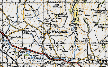 Old map of Back o'th' Brook in 1946