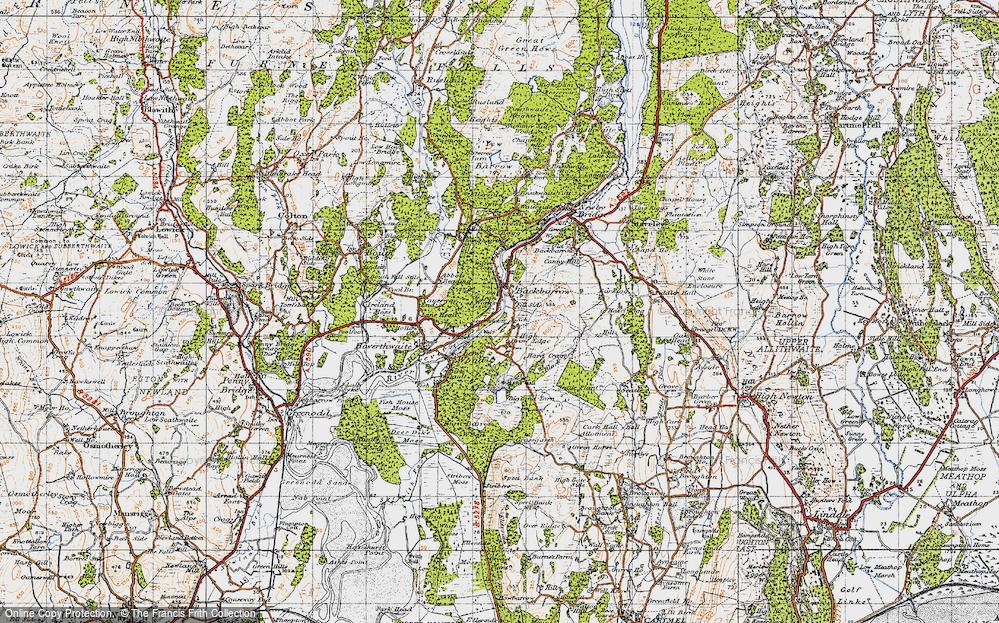 Old Map of Backbarrow, 1947 in 1947