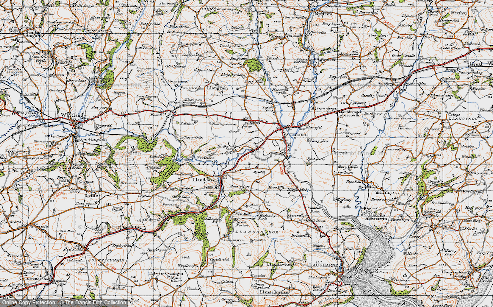 Old Map of Backe, 1946 in 1946