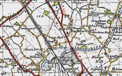 Old map of Backford in 1947