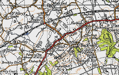 Old map of Backwell in 1946