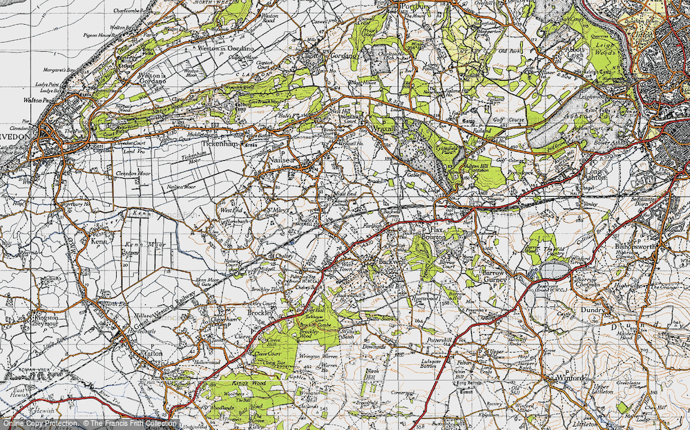 Old Map of Backwell Common, 1946 in 1946