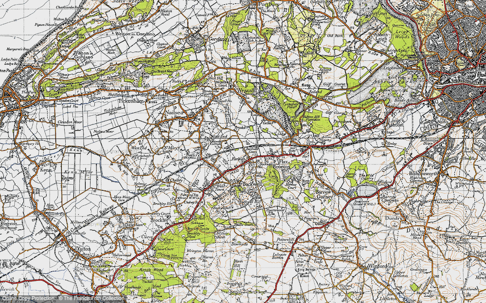 Old Map of Backwell Green, 1946 in 1946