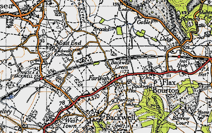 Old map of Backwell Green in 1946