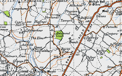 Old map of Baconend Green in 1946