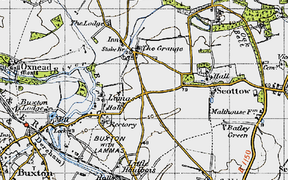 Old map of Badersfield in 1945