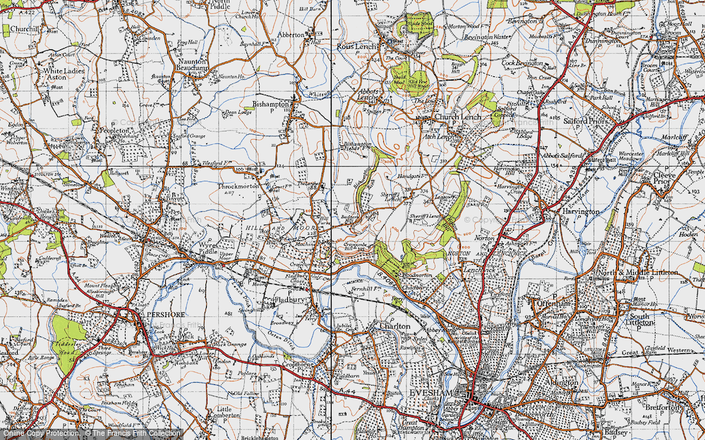 Old Map of Badger's Hill, 1946 in 1946