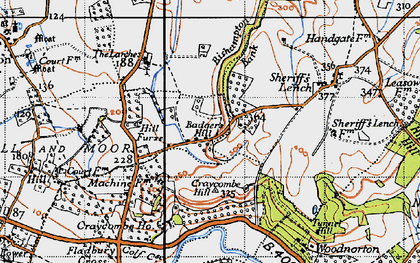 Old map of Badger's Hill in 1946