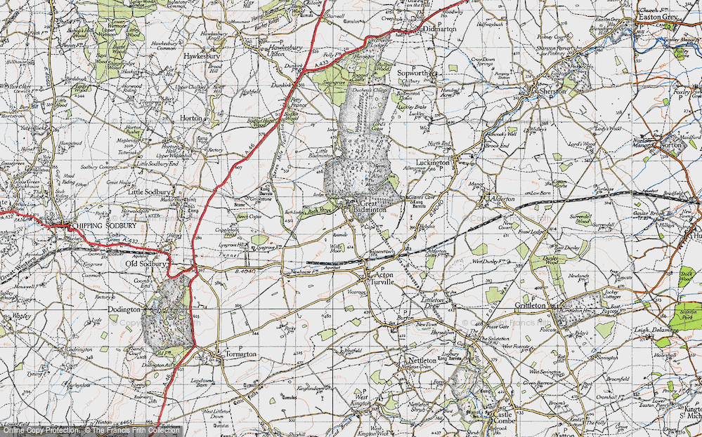 Old Map of Badminton, 1946 in 1946