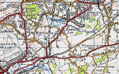 Old map of Barfield (sch) in 1940