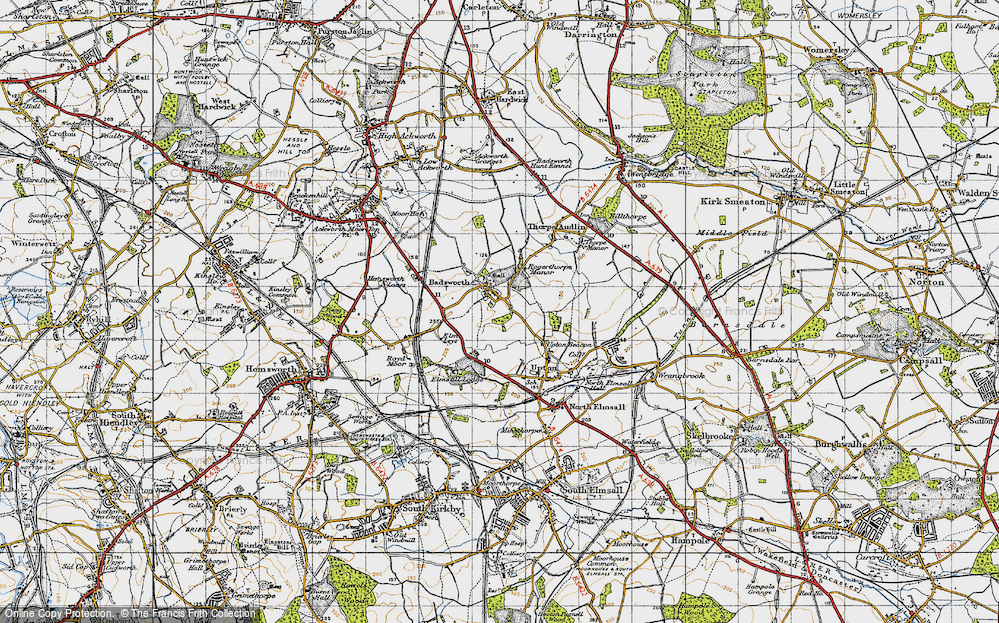 Old Map of Badsworth, 1947 in 1947