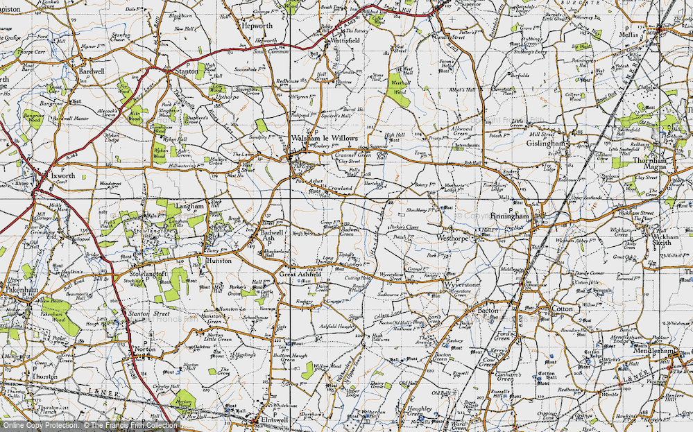 Old Map of Badwell Green, 1946 in 1946