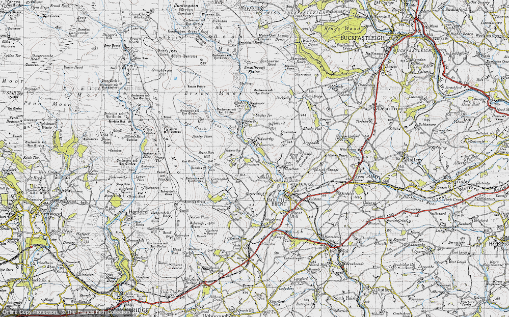 Old Map of Badworthy, 1946 in 1946