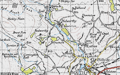 Old map of Ball Gate in 1946