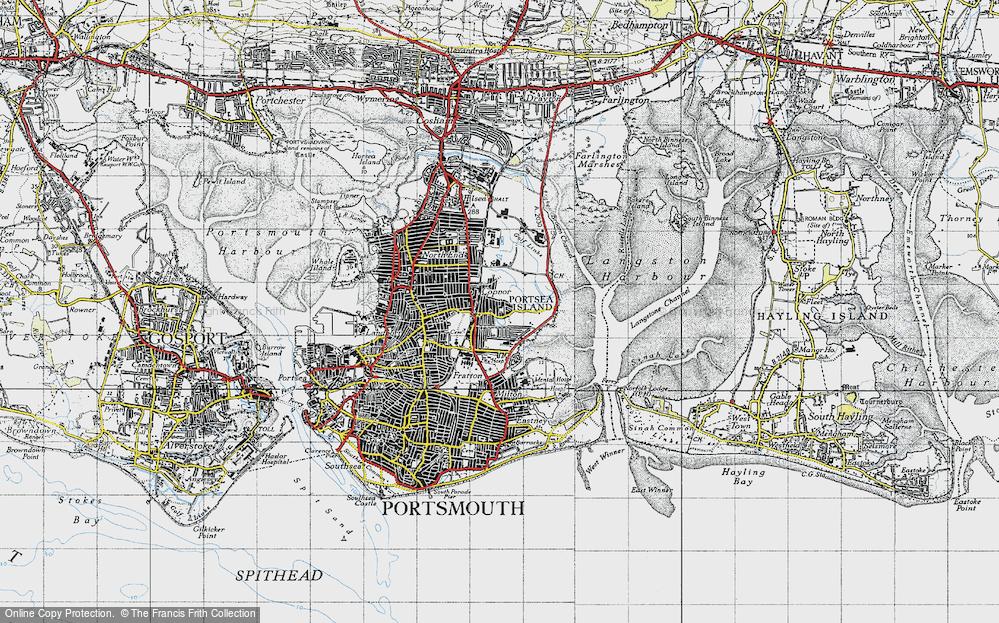 Old Map of Baffins, 1945 in 1945