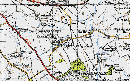 Old map of Abbot's Close in 1947
