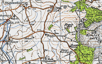 Old map of Bagginswood in 1947