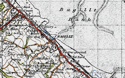 Old map of Bagillt in 1947