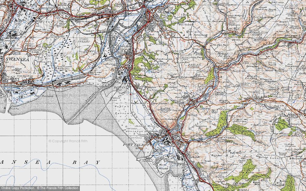 Old Map of Baglan, 1947 in 1947