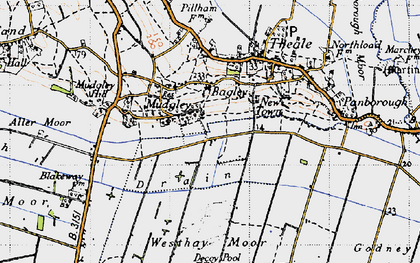 Old map of Bagley in 1946