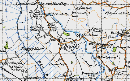 Old map of Wycherley Hall in 1947
